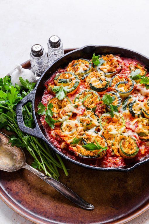 Rolled Zucchini Pasta Bake