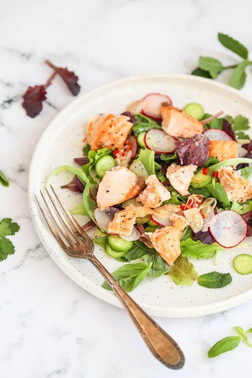 Salmon Salad & Chilli Herbs
