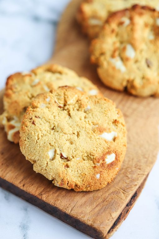White Chocolate & Almond Protein Cookies